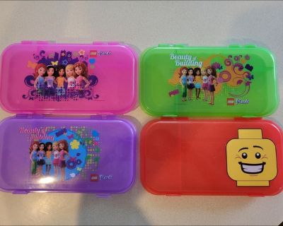 Set of 4 Lego storage containers