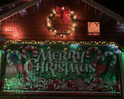 Christmas garage door banner