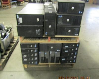 LOT OF COMPUTERS AND OTHER ITEMS ON 22 PALLET