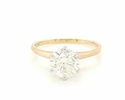2.07 ct. Round Brilliant Cut Diamond Set in 14K Yellow Gold