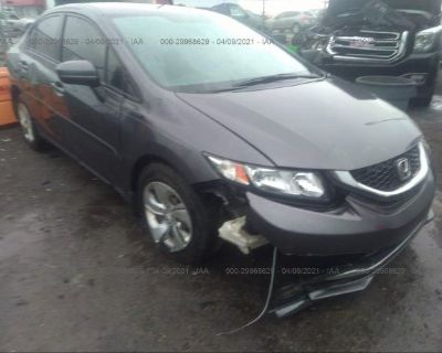Salvage Gray 2015 Honda Civic Sedan