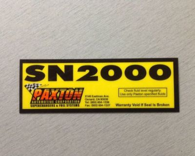 Paxton Supercharger Sn-2000 Blower Decal Camaro Mustang Mcculloch Studebaker