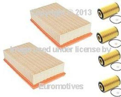 Bmw E38 740 E39 540 X5 Mahle Oil Air Filters Kit 6pc