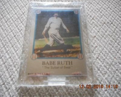 """Babe Ruth """"Sultan of Swat"""" Aluminum Baseball Card Limited."""
