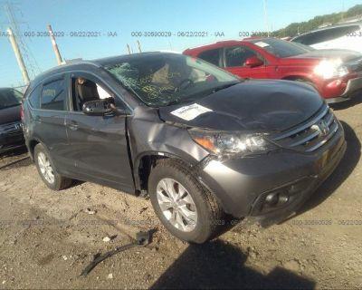 Salvage Gray 2014 Honda Cr-v