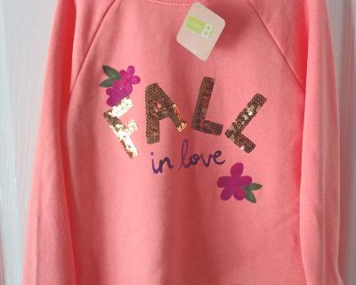 New Crazy 8 Sweatshirt Fall in love size 7 8