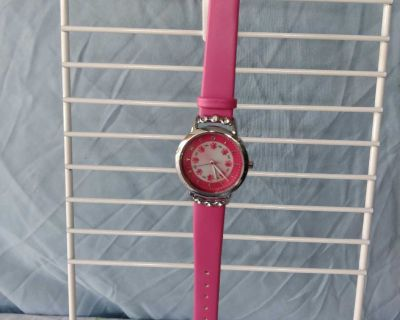 Kezzi Time Collections Pink Rhinestones Watch