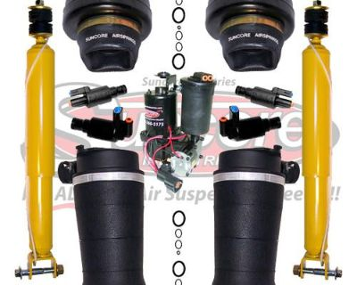 4wheel Suspension Air Spring Bags, Solenoids, Compressor & Rear Shocks Kit