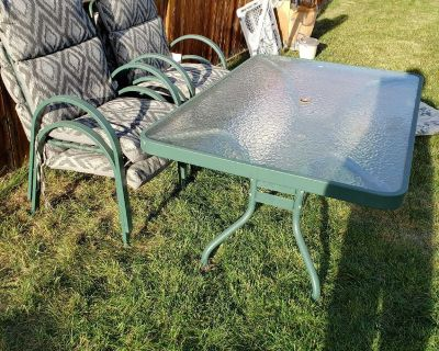 Free patio table and 4 chairs