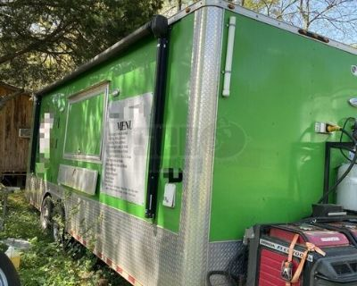 2017 8.5' x 24' Mobile Kitchen Food Concession Trailer with Bathroom