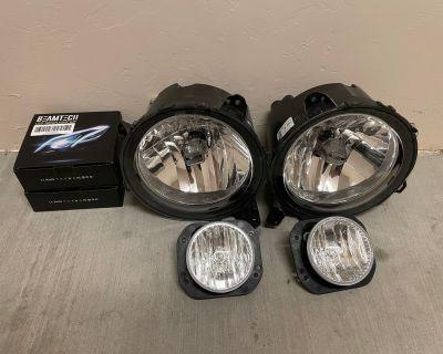 Arizona - Jeep OEM Halogen Headlights/Foglights + 2 Sets Beamtech Bulbs