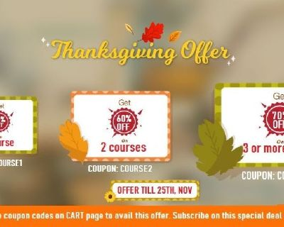 few Hours Left Thanksgiving offer - 70 % OFF on all SAP Courses