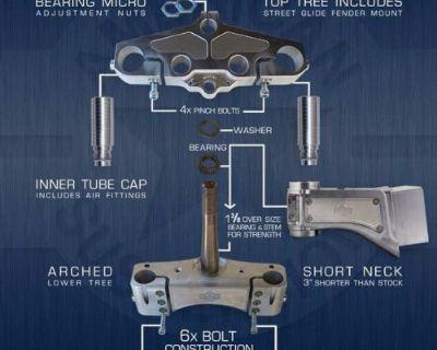 """Harley Bagger Short Neck Slip Fit Neck Kit 2001-2008 30"""" Wheel"""