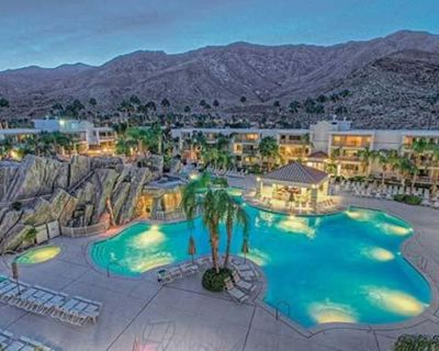 1 BDRM~ Palm Canyon Resort and Spa~ WATERSLIDES/POOLS/SPA/DINING/SUN DECK & MORE - Canyon Corridor