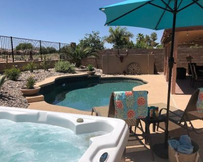 Watch stunning sunsets from the pool deck - San Tan Valley