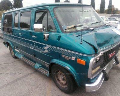 Salvage Turquoise 1993 Gmc Rally Wagon / Van