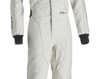 Sparco Extrema Rs-10 White Single Layer Fia 8858 2000 Racing Suit - Size: 50