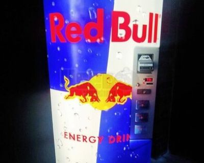 2014 Royal Vendors Merlin RB Red Bull Energy Drink Soda Vending Machine