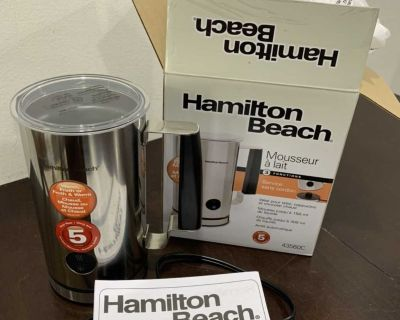 Milk or Coffee Frother/Warmer NEW Hamilton Beach Milk or Coffee Frother/Warmer