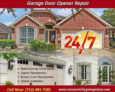 Top Most Rated Garage Door Opener Repair ($25.95) Missouri City Houston, 77459 TX