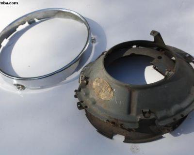 NOS Type III Headlight Bucket SB12 Chrome Bezel