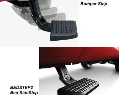 99-13 Ford F-250 F350 Super Duty Amp Research Bedstep & Bedstep2 Flip-down Steps
