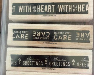 Handle with Care 4 stamp collection