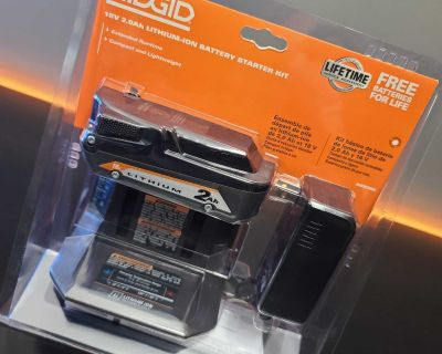 Ridgid 18v 2ah Compact Lithium Ion Battery and Charger Kit (BNI