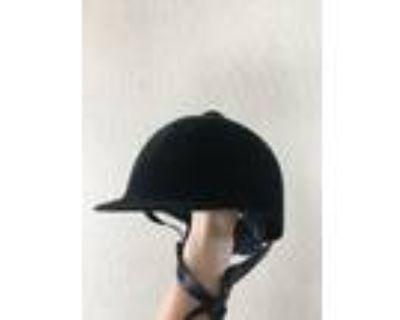 victory Black Velvet Riding Helmet XSS