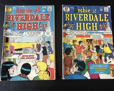 Two Vintage Archie at Riverdale High Comic Books