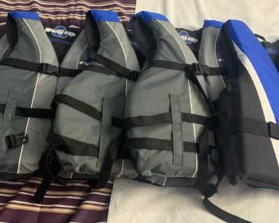 Life jackets in new condition