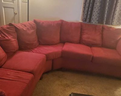 Red Sectional Sofa