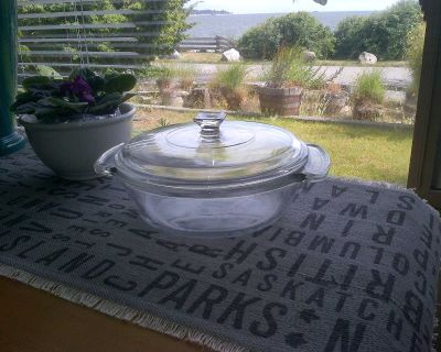 Anchor Hocking Clear Glass Covered Casserole.....1.5 QT Size