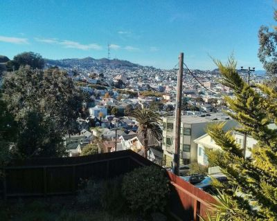 Hilltop House Guest Suite with Stunning View with very easy street parking - San Francisco
