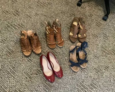 CLOSET CLEANING-DONATING SOON! Women s size 7/7.5