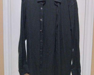 Men's Bill Blass black button up shirt size small