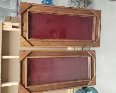 1960's Red glass mirrors