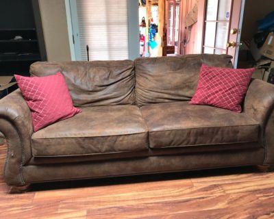 Soft leather sofa