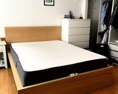Queen Casper mattress + IKEA bed frame