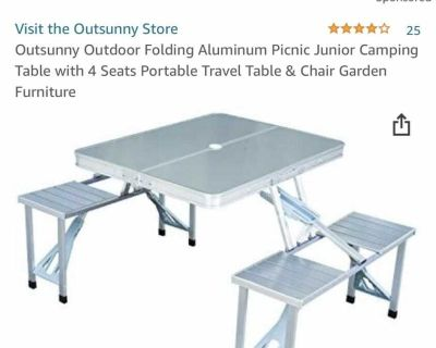 Portable Folding picnic table NEW IN BOX