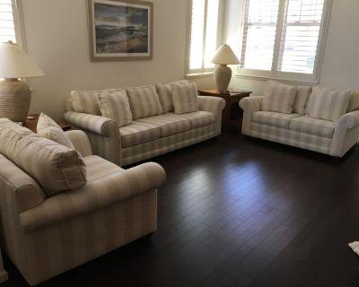 Lincoln Linen Sofa, Love Seat, Chair