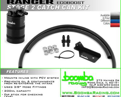 Boomba Racing Ford Ranger Stage 2 Catch Can Kits!