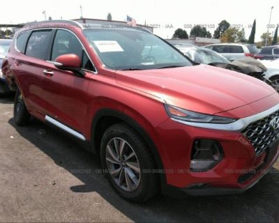 Salvage Red 2020 Hyundai Santa Fe