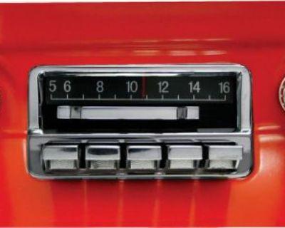 "1964 1965 1966 Mustang Radio Custom Autosound ""slidebar"" Radio + Bluetooth Kit"
