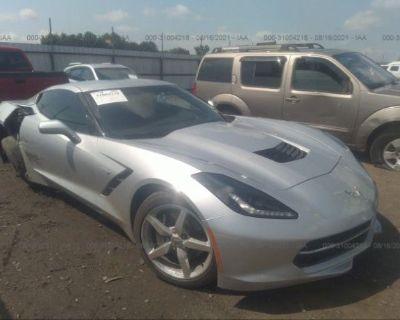 Salvage Silver 2014 Chevrolet Corvette Stingray
