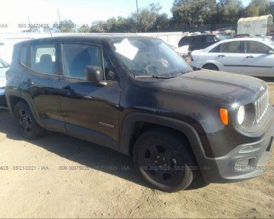Salvage Black 2017 Jeep Renegade