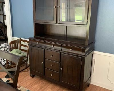 Matching China cabinet and dining room set