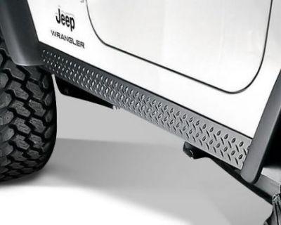 Rugged Ridge Rocker Side Panel Body Armor 97-06 Jeep Wrangler 11650.05 Black