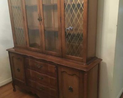 Vintage dining room hutch and table !!