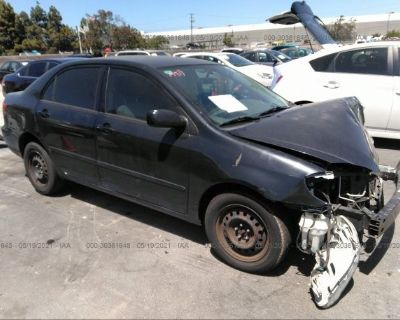 Salvage Black 2006 Toyota Corolla